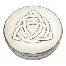 Pewter Trinket Box Celtic Triangle