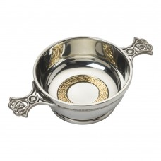 CELTIC QUAICH BOWL WITH BRASS RING