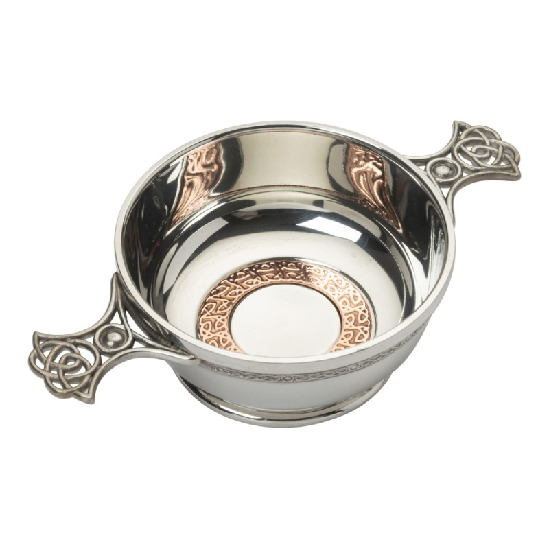 CELTIC QUAICH BOWL WITH COPPER RING