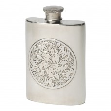 4OZ FLOWER DESIGN FLASK