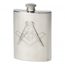 60Z MASONIC HIP FLASK