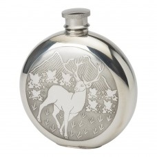 6OZ ROUND CLASSIC STAG FLASK