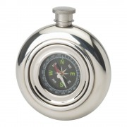 ROUND WORKING COMPASS FLASK