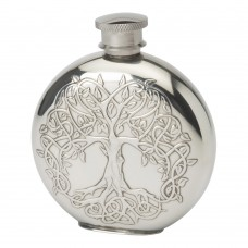 4OZ ROUND TREE OF LIFE FLASK