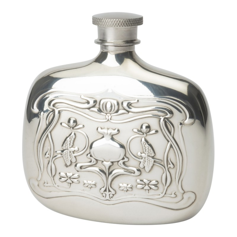 ART NOUVEAU BOTTLE FLASK