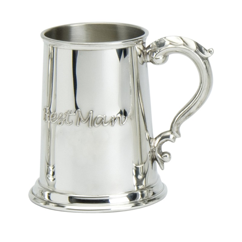 1PT PEWTER TANKARD BEST MAN
